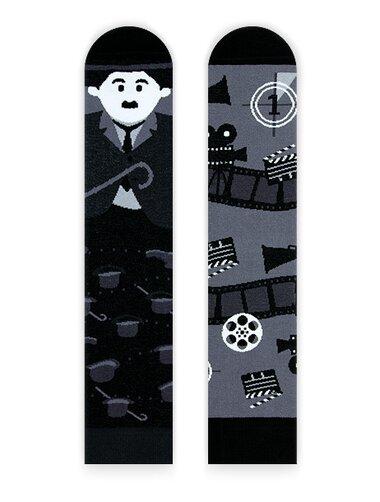 Sosete amuzante alb negru Nanushki Charlie
