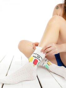 Sosete colorate cu buline si inghetata Socks Concept SC-1546