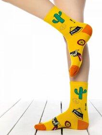 Sosete colorate cu cactus si palarie Socks Concept SC-1726