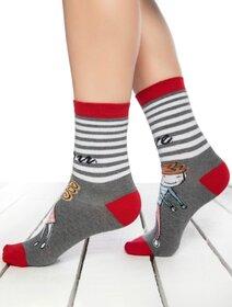 Sosete colorate cu fata si baiat Socks Concept SC-1809-2