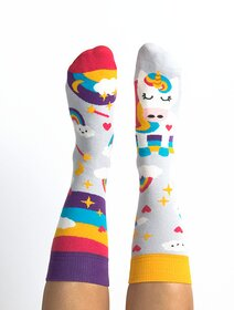 Sosete colorate cu unicorn Nanushki Unicorn