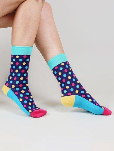 Sosete cu buline colorate The Happy Toe Jolly Dots