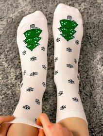 Sosete de Craciun cu bradulet si fulgi Socks Concept SC-NL21