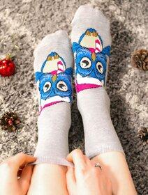 Sosete de craciun cu bufnita si caciulita Socks Concept SC-NL03
