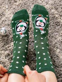 Sosete de Craciun cu buline si pinguin Socks Concept SC-NL26