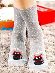 Sosete de Craciun cu pisicuta si fulgi Socks Concept SC-NL04