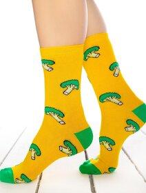 Sosete galbene cu brocoli Socks Concept SC-1791