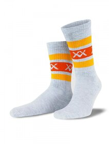 Sosete gri cu dungi orange Socks Concept SC-1705-2