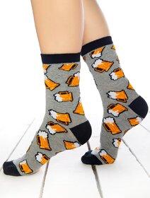Sosete gri cu halbe de bere Socks Concept SC-1797
