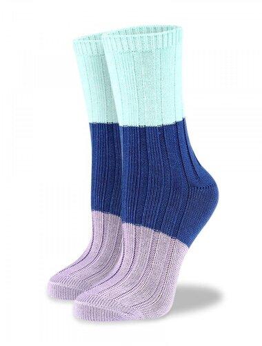 Sosete groase de bumbac cu model colorat raiat Socks Concept BRG609