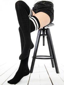 Sosete jambiere bumbac lungi peste genunchi cu model jacard Brogetti BRG1453-S