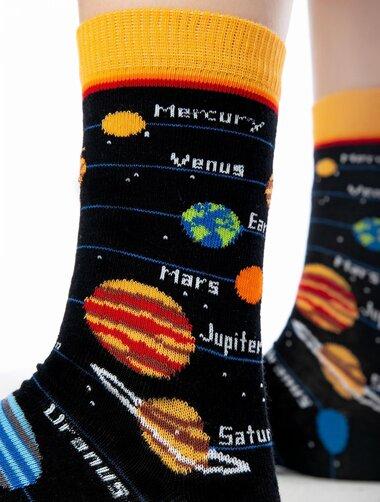 Sosete negre cu planete Socks Concept SC-1552