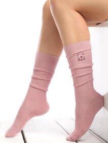 Sosete raiate lungi sub genunchi cu pisicuta brodata Socks Concept SC-1893-3