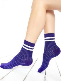 Sosete raiate violet cu dungi albe Brogetti 198BRG-16