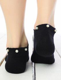 Sosete scurte negre cu perle Socks Concept BRG698