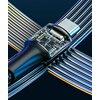 Cablu de alimentare 2 in1 Baseus Twins USB Tip C - USB Tip C (60W 20V 3A)+ adaptor Lightning (5V 2A)