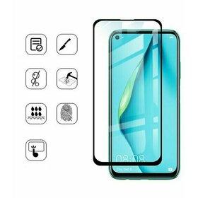 Folie de sticla (Tempered Glass) Premium cu margini colorate pentru Huawei Y5P