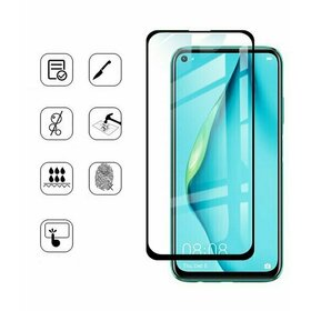 Folie de sticla (Tempered Glass) Premium cu margini colorate pentru Huawei Y6P