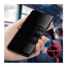 Folie Privacy - Anti spionaj - pentru Galaxy A9 (2018) NEGRU
