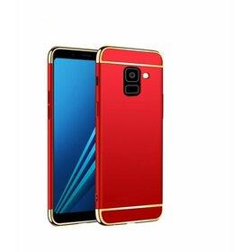 Husa 3 in 1 Luxury pentru Galaxy A6 Plus (2018) Red