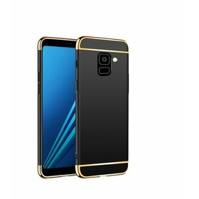 Husa 3 in 1 Luxury pentru Galaxy A8 Plus (2018) Black