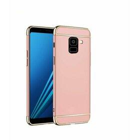Husa 3 in 1 Luxury pentru Galaxy J6 (2018) Rose Gold