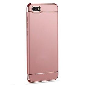 Husa 3 in 1 Luxury pentru Huawei Y5 (2018) Rose Gold