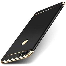 Husa 3 in 1 Luxury pentru Huawei Y6 Prime (2018)/ Honor 7A Black