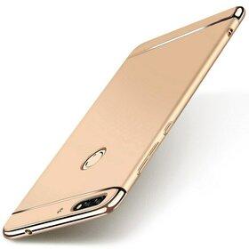 Husa 3 in 1 Luxury pentru Huawei Y6 Prime (2018)/ Honor 7A Gold