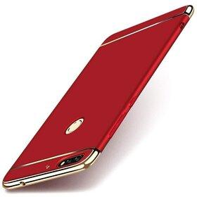 Husa 3 in 1 Luxury pentru Huawei Y6 Prime (2018)/ Honor 7A Red
