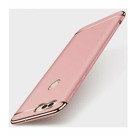 Husa 3 in 1 Luxury pentru Huawei Y6 Pro 2017/ P9 Lite Mini Rose Gold