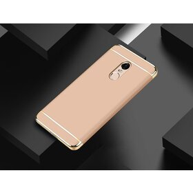 Husa 3 in 1 Luxury pentru Xiaomi Redmi Note 4 Gold
