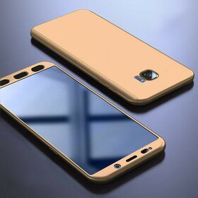 Husa 360 pentru Galaxy S6 Edge Gold