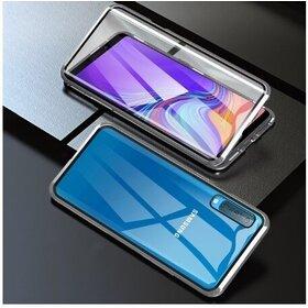 Husa 360 Magnetica cu Sticla fata + spate pentru Galaxy A50/ Galaxy A30s Silver