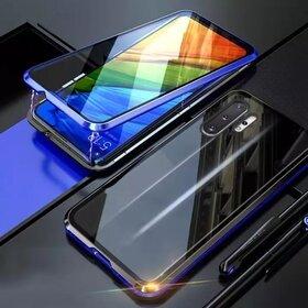 Husa 360 Magnetica cu Sticla fata + spate pentru Galaxy Note 10 Plus Blue