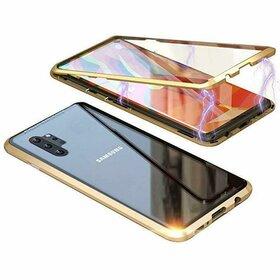 Husa 360 Magnetica cu Sticla fata + spate pentru Galaxy Note 10 Plus Gold