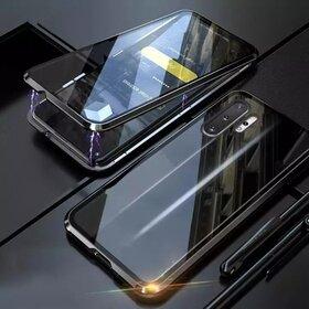 Husa 360 Magnetica cu Sticla fata + spate pentru Galaxy Note 10 Plus Black