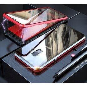 Husa 360 Magnetica cu Sticla fata + spate pentru Galaxy S9 Plus Red