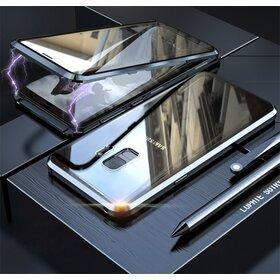 Husa 360 Magnetica cu Sticla fata + spate pentru Galaxy S9 Plus Black