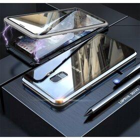 Husa 360 Magnetica cu Sticla fata + spate pentru Galaxy S9 Plus Silver