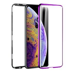 Husa 360 Magnetica cu Sticla fata + spate pentru iPhone X/ iPhone XS Purple