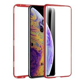 Husa 360 Magnetica cu Sticla fata + spate pentru iPhone XS MAX Red