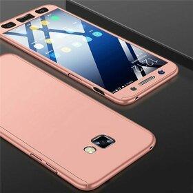 Husa 360 pentru Galaxy A7 (2017) Rose Gold