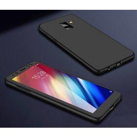 Husa 360 pentru Galaxy A8 Plus (2018) Black
