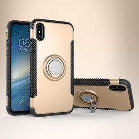 Husa Armor cu inel si magnet pentru iPhone X