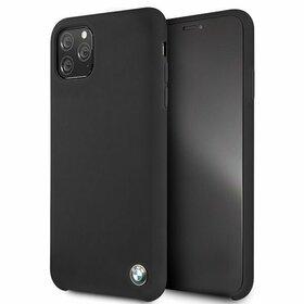 Husa BMW Neagra din silicon pentru iPhone 11 Pro Max
