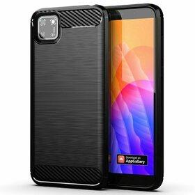 Husa Carbon din TPU flexibil pentru Huawei Y5p Black