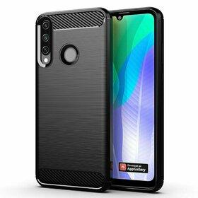 Husa Carbon din TPU flexibil pentru Huawei Y6p Black