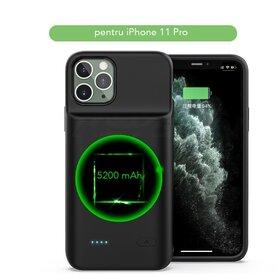 Husa cu baterie externa Slim pentru iPhone 11 Pro