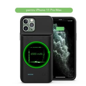 Husa cu baterie externa Slim pentru iPhone 11 Pro Max